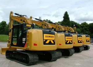 Cat 312's making up the new Hewden Fleet -2