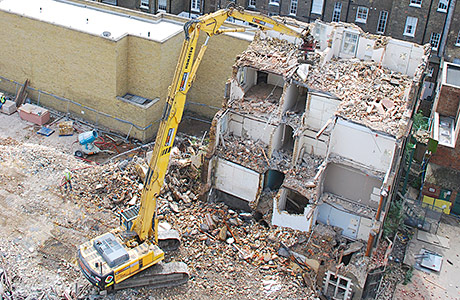 Hospital demolition requires 'soft touch'