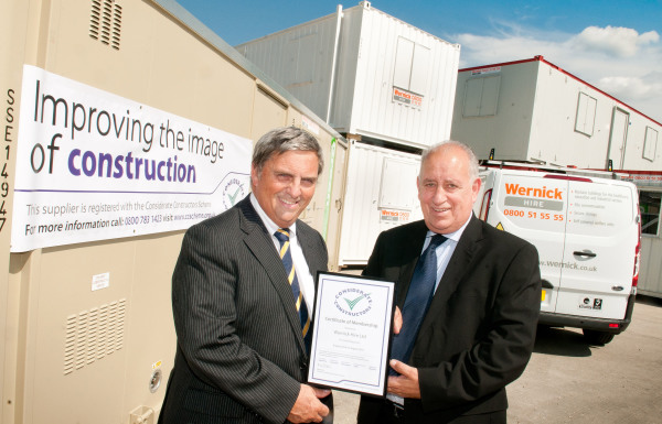 Considerate Constructors Scheme welcomes Wernick Hire