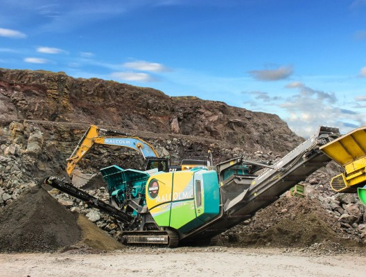 Malcolm invests in Premiertrak 600 jaw crusher