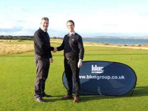 Fraser Cromarty (left) and Daniel Tomlinson, Group Marketing Manager, Blue Group