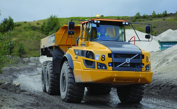 Sound pedigree: Volvos put to work at Fife quarry