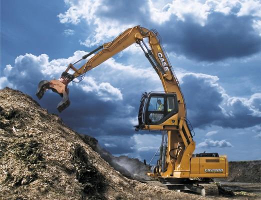 Case unveils new material handling crawler excavator