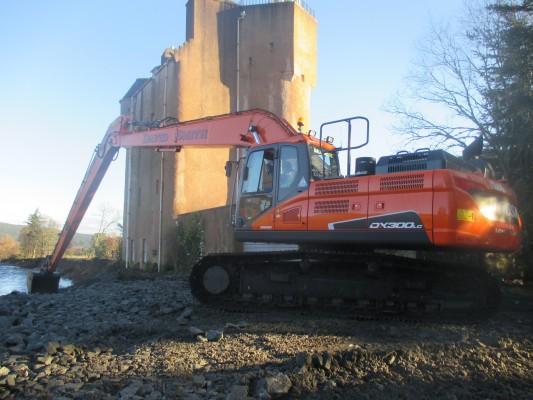 Doosan excavator helps save castle