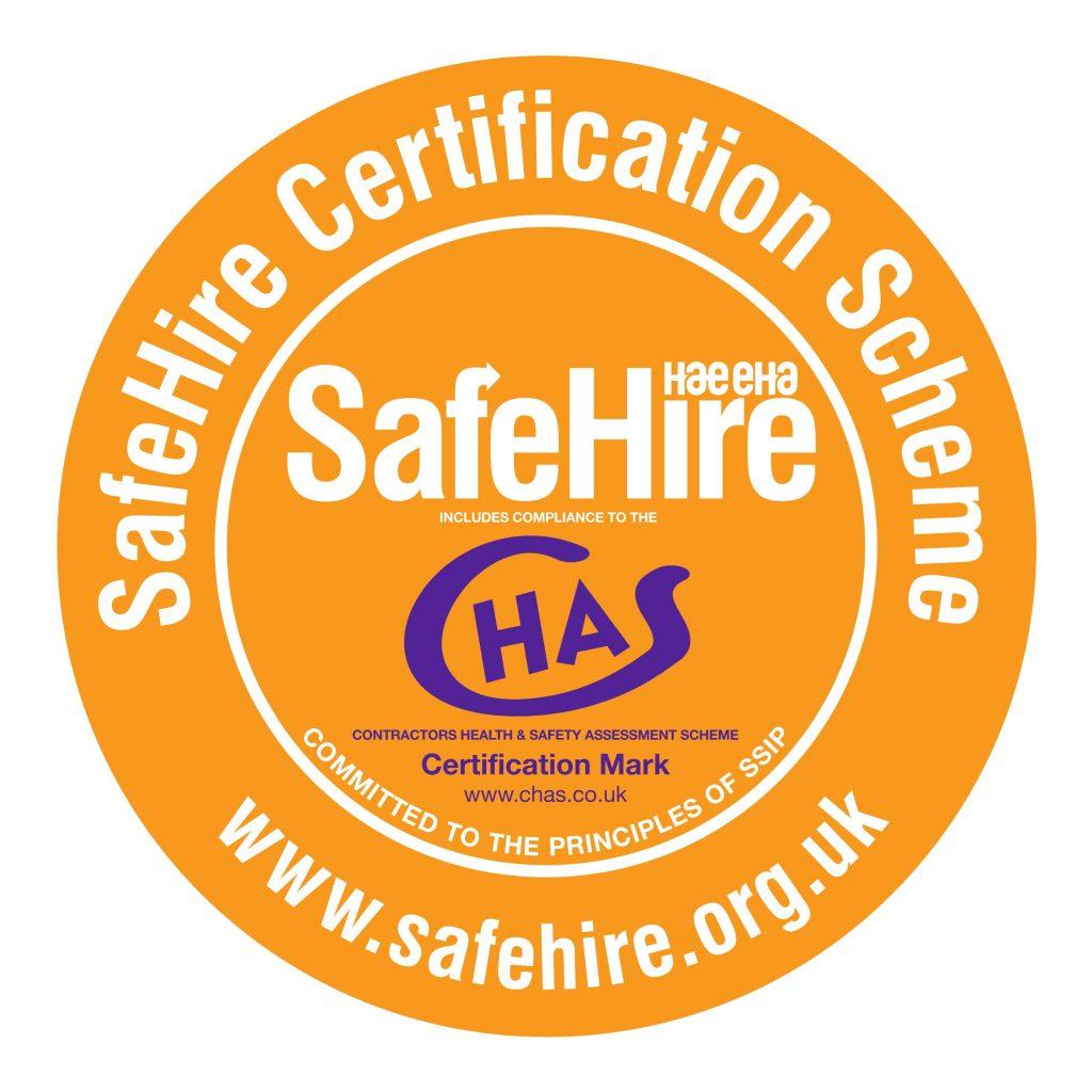Safehire Chas Certification Scheme Roundel
