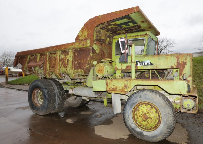 Terex team transforms old dump truck