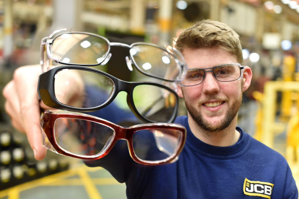 d19a55fbe3 JCB teams up with Specsavers for safety glasses range