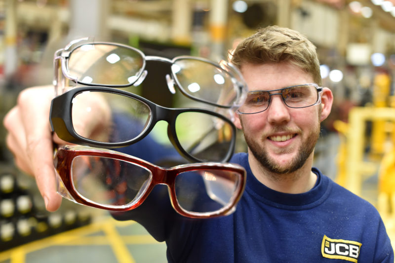 JCB teams up with Specsavers for safety glasses range