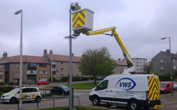 Van-mounted boom gives CCTV specialist a lift