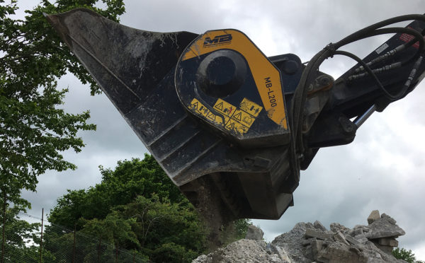 Crushing bucket provides Inverurie firm with new revenue stream