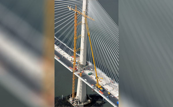 Crane hire firm reaches new heights on Queensferry Crossing project
