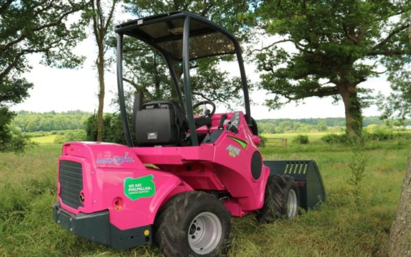 Compact wheeled loader looks pretty in pink