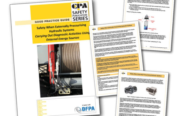 CPA publishes guide on hydraulic pressurising tasks