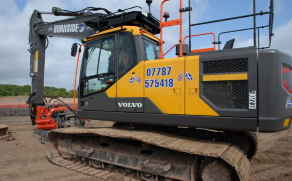 "Volvo excavator becomes the ""optimum tool"" in Burnside's arsenal"