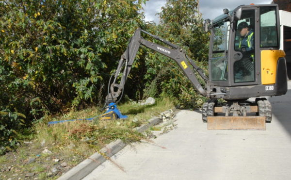 Compact excavator shows touch of glass in Alloa