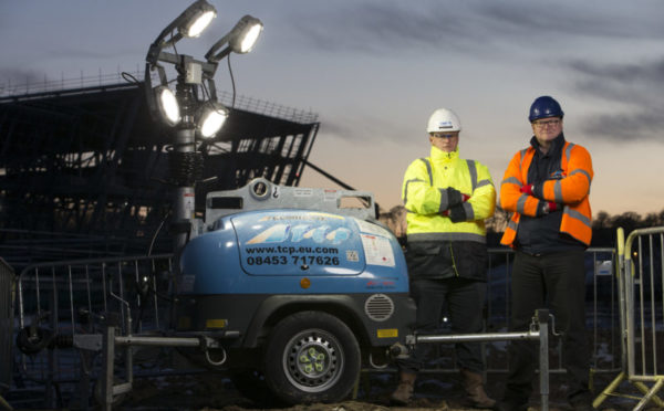 Eco-friendly product lights up landmark Aberdeen project