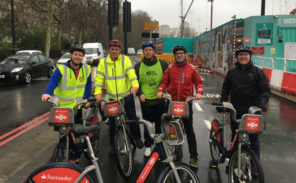 A-Plant staff get on their bikes to boost safety