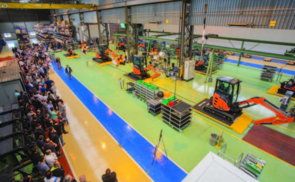 Hitachi unveils new-look European mini excavator factory