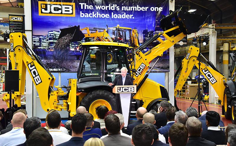 Boris Johnson delivers keynote speech at JCB's HQ ...